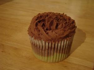 Mint choc cupcake