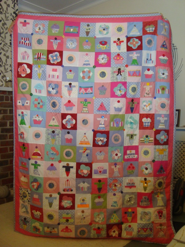 finished school quilt