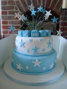 star christening cake